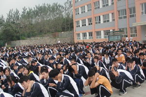 新学期第一次安全疏散yan练huo动