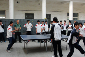 """青chun杯""ping乓球赛luo下帷幕"