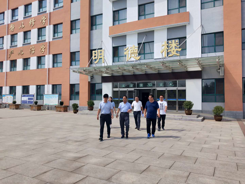 热烈欢迎shijiao育ju领导莅临我校检查校园anquangong作